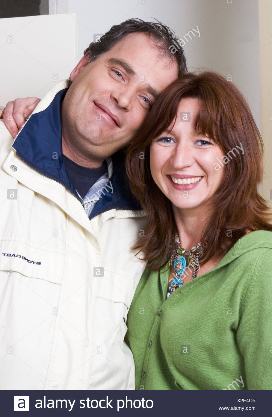 Happy couple portrait - Stock Image