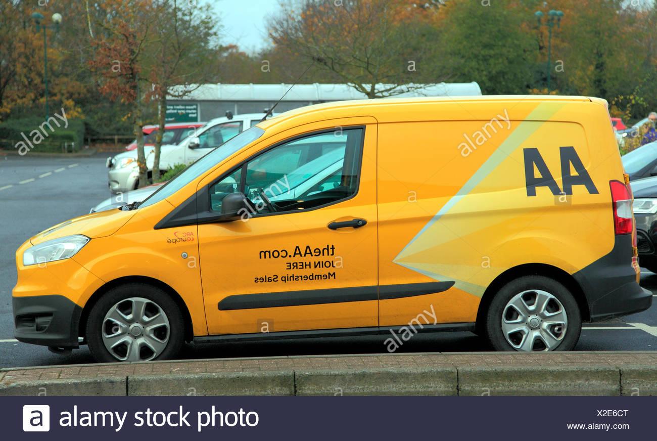 AA van, Automobile Association,  join here, Membership sales, England, UK - Stock Image