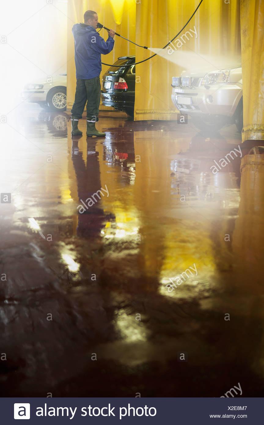 Washing Car Hose Man Stock Photos & Washing Car Hose Man Stock ...