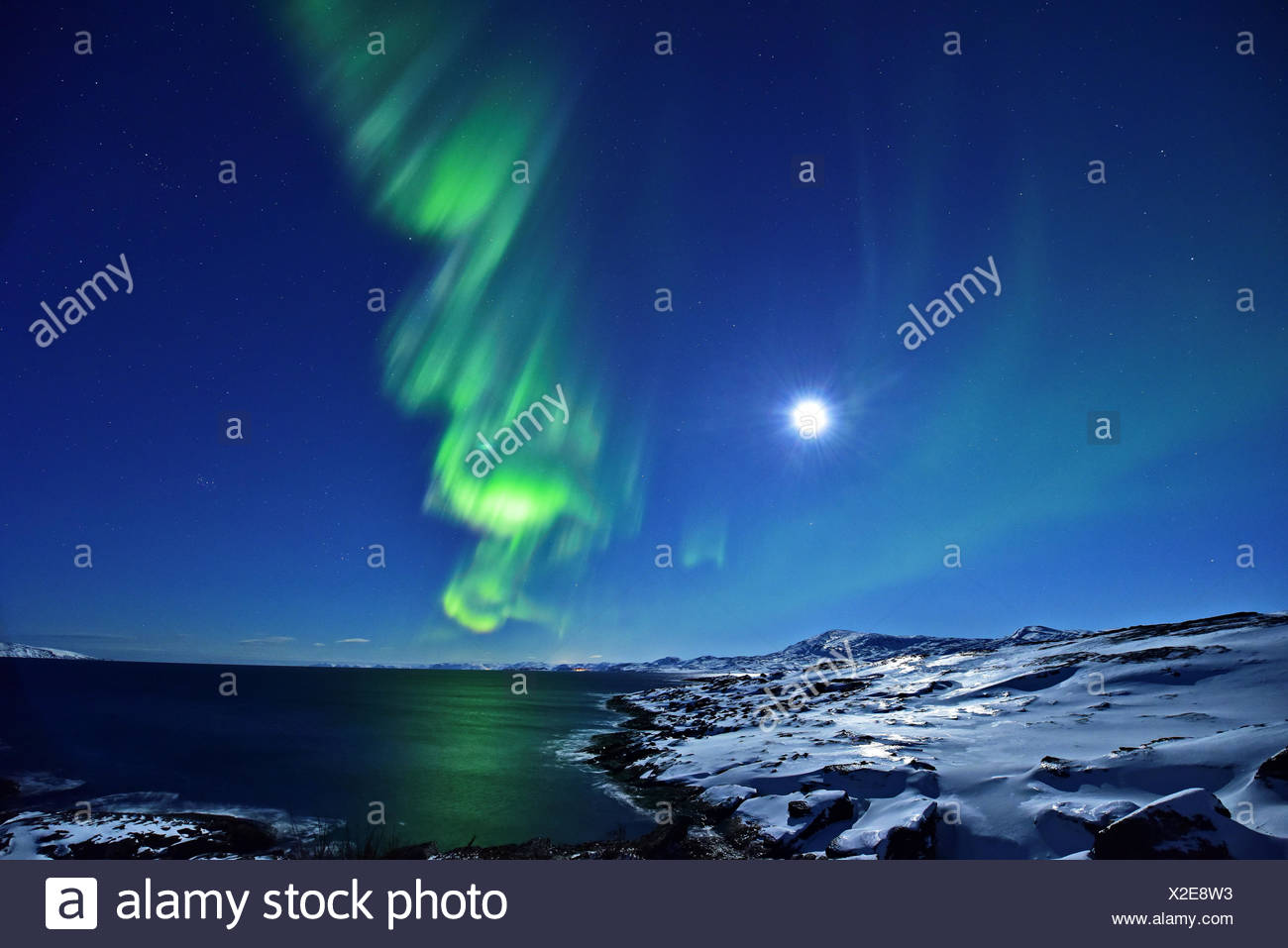 Nordlicht nähe Lillefjord - Stock Image
