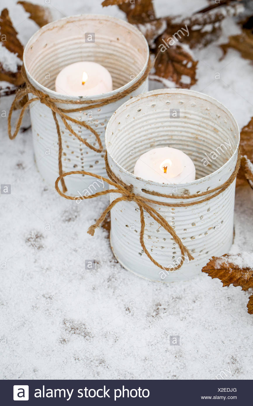 Material Tin White Brush Nail Hammer String Candle How To Make A Small Hole In The Can Using And Paint Of