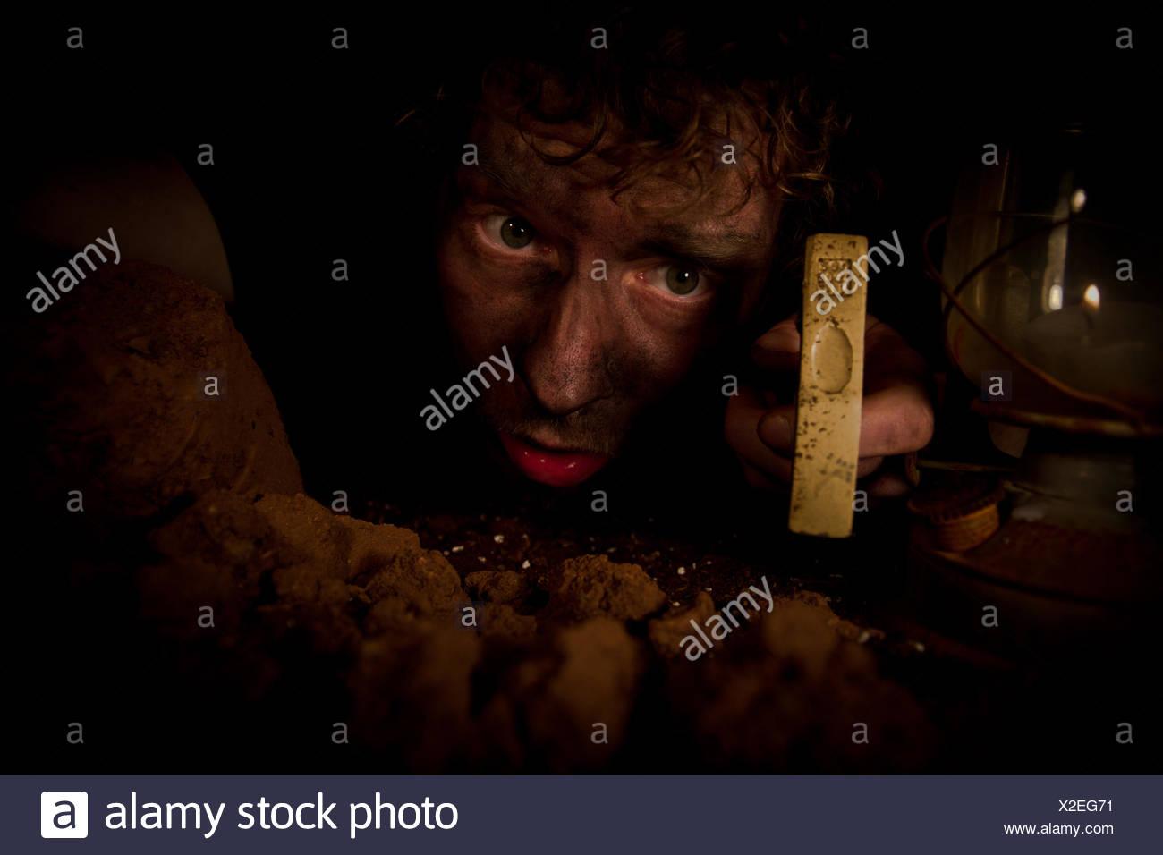 men man job - Stock Image