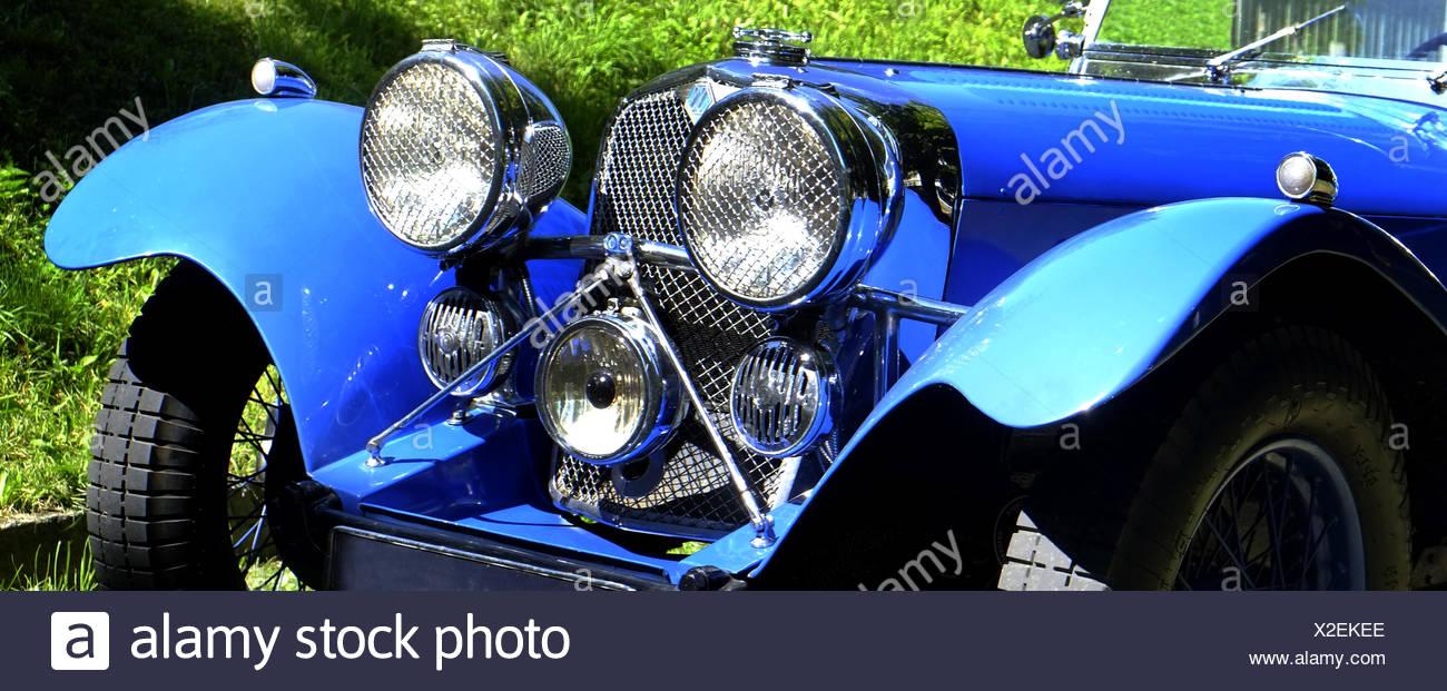 Roadster SS100, Jaguar classic car Stock Photo
