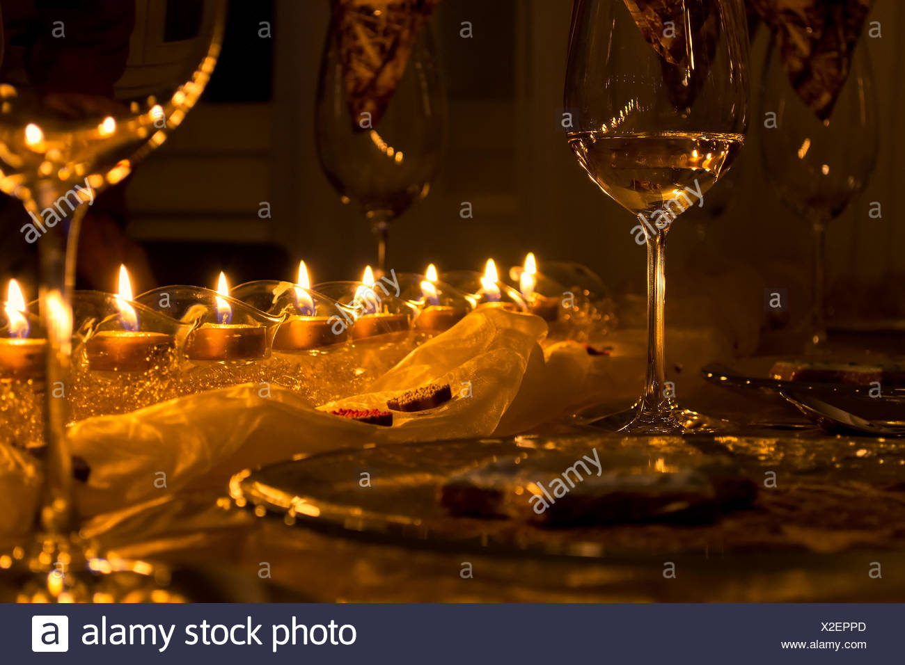 Solemn dining table - Stock Image