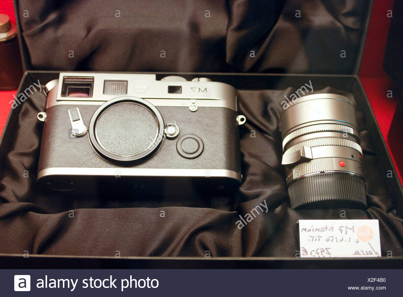 Analog LEICA M7 and lens in case - Stock Image