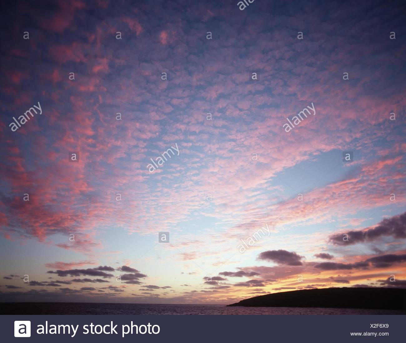 clouds in evening light, Samoa, Upolu - Stock Image