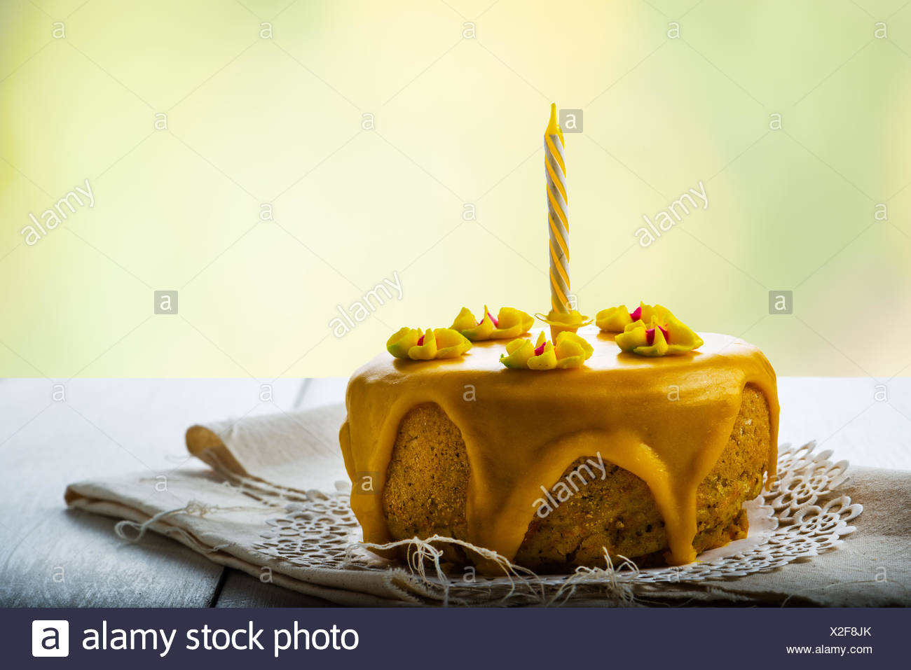 birthday special occasion gourmet cake - Stock Image