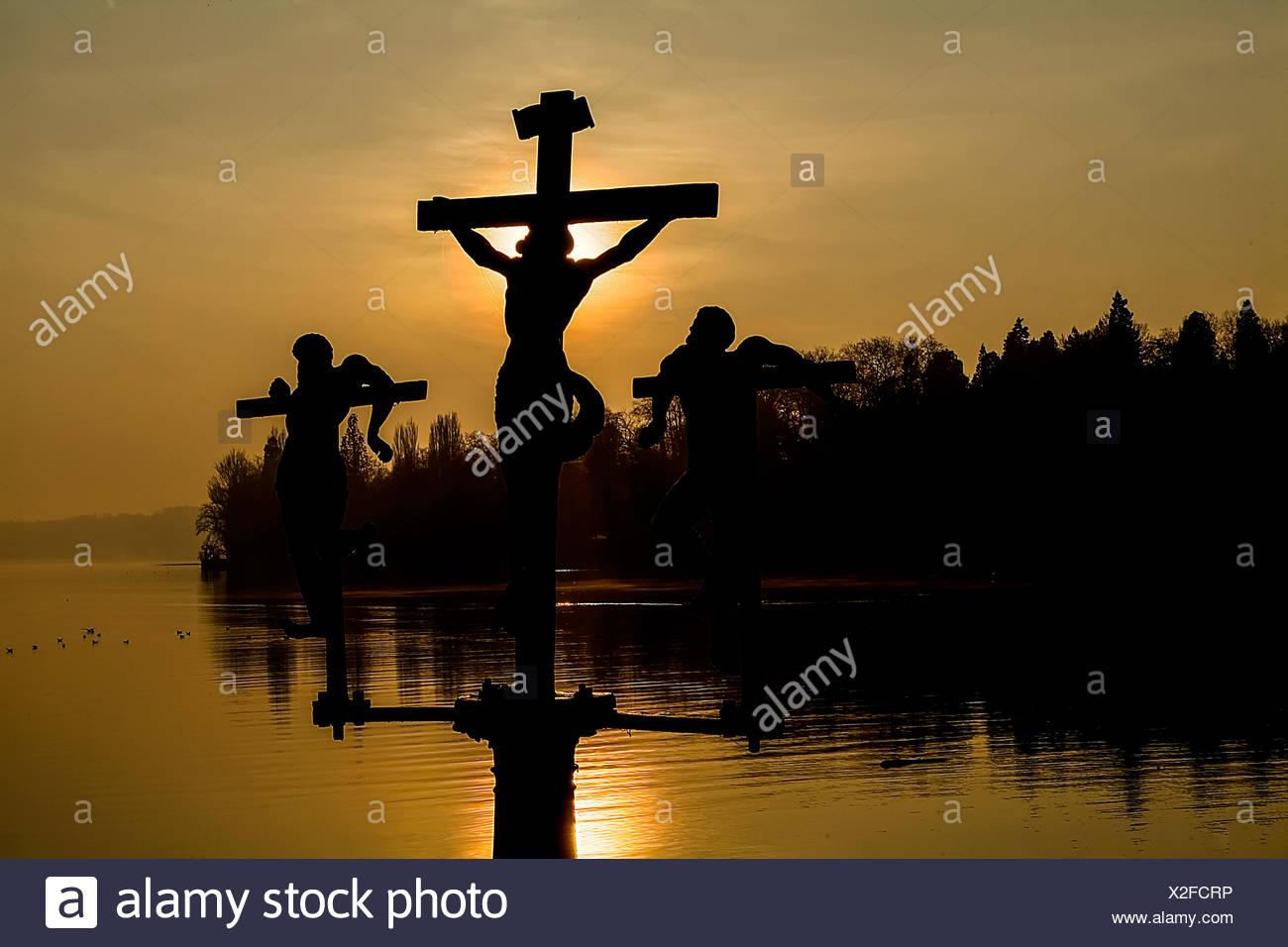 sun rise insel mainau - Stock Image
