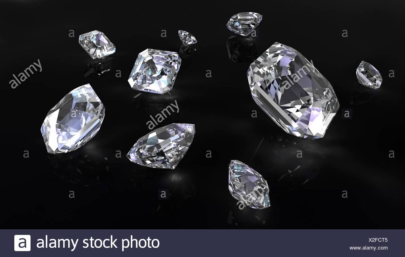 stone cut jewel - Stock Image