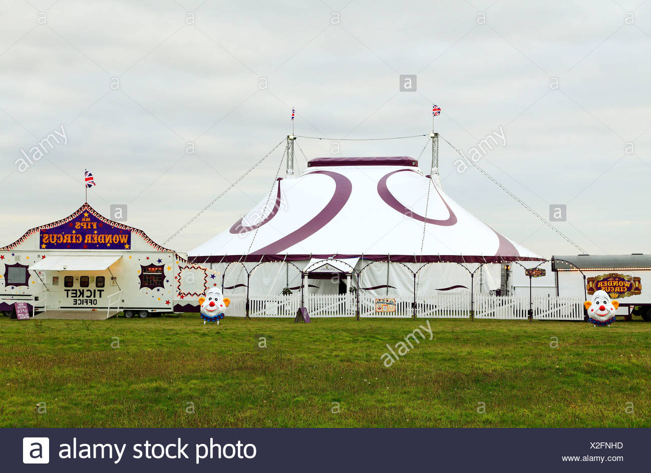 Mr. Fips Wonder Circus, Kings Lynn, Norfolk England UK tent tents show - Stock Image