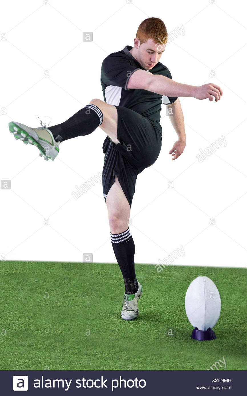 Rugby player doing a drop kick Stock Photo: 276941521 - Alamy