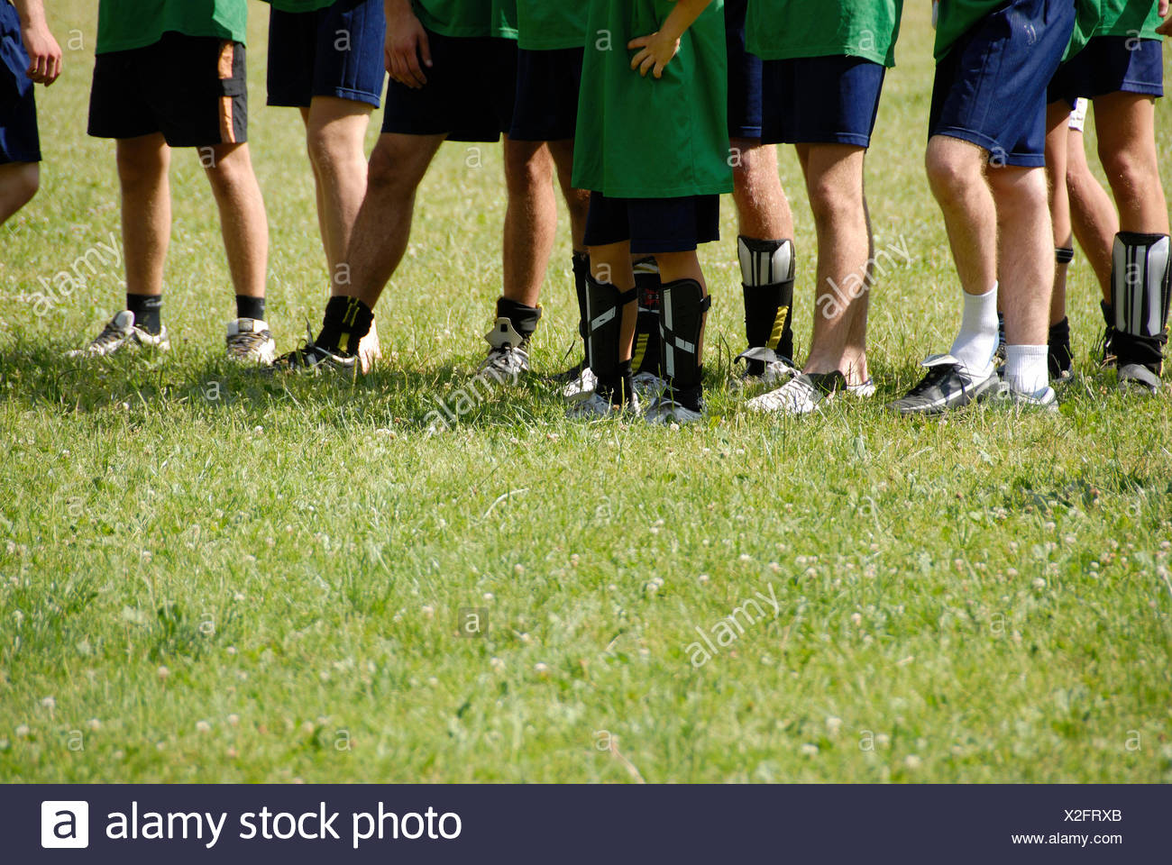 Soccer Players in half lengh shoot - Stock Image
