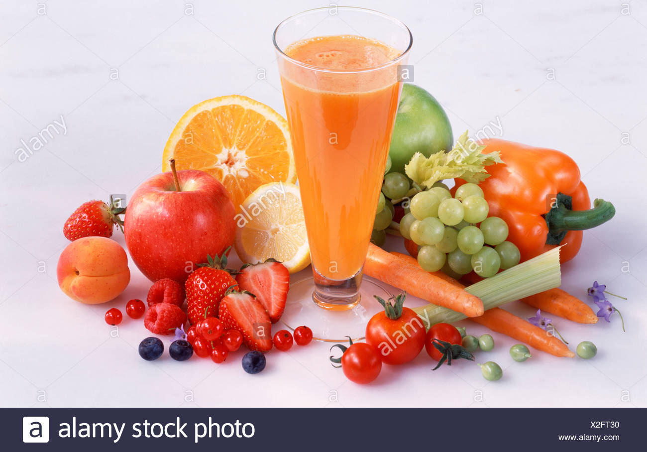 fruit and vegetable juice - Stock Image