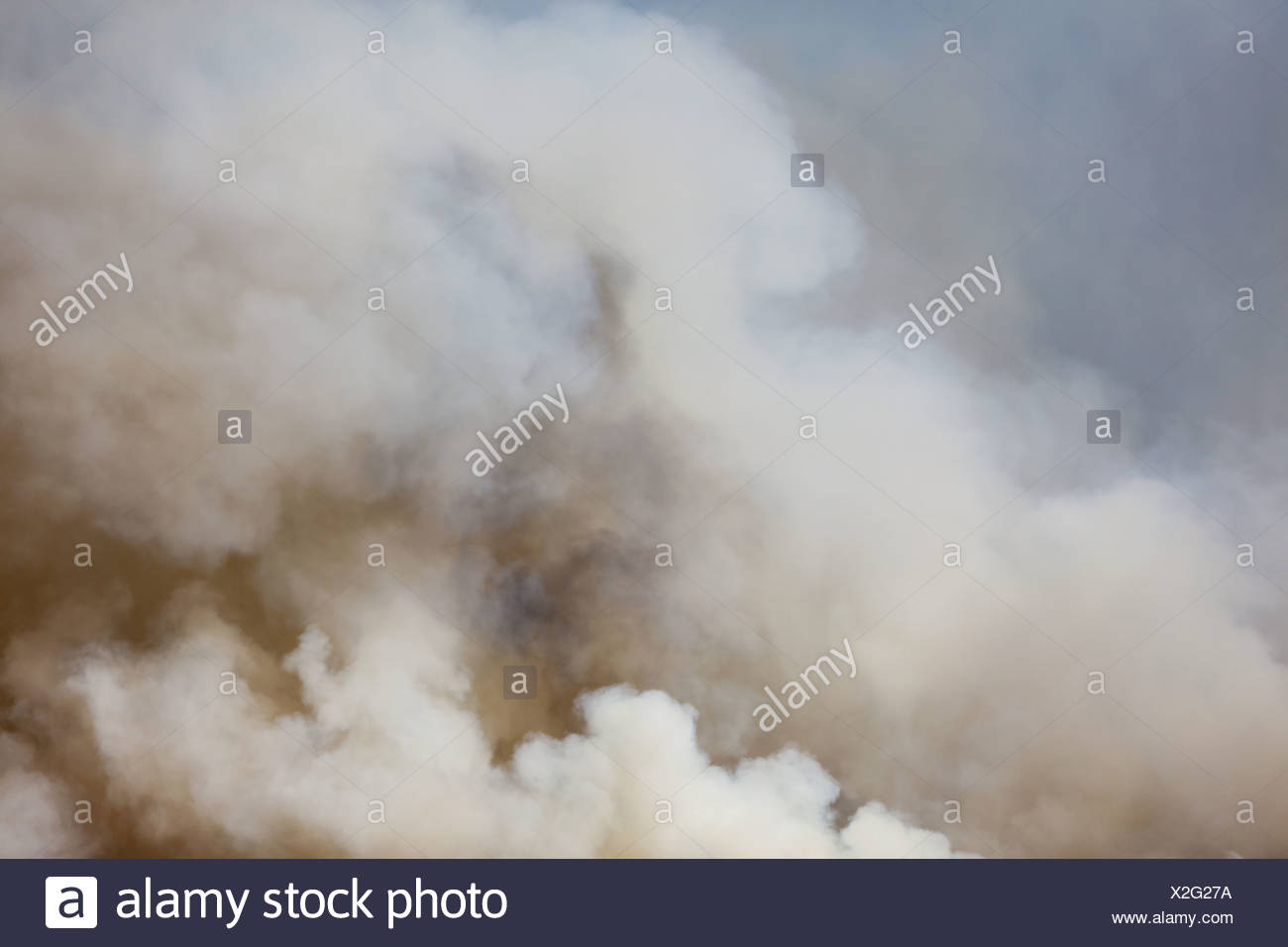 Washington state USA large forest fire Ellensburg Kittitas county Stock Photo