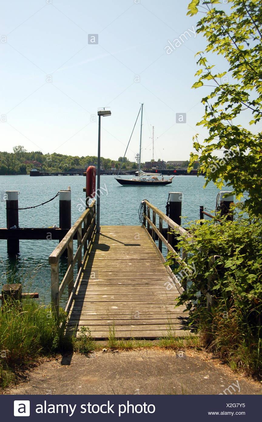 bridge investor keel bridge investor eagle keel ferry holtenau nok kiel-canal Stock Photo
