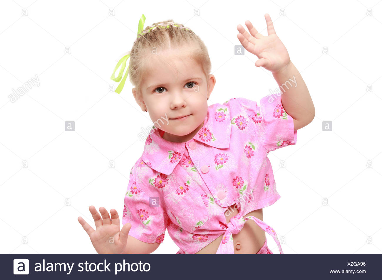 The girl in beat dance - Stock Image