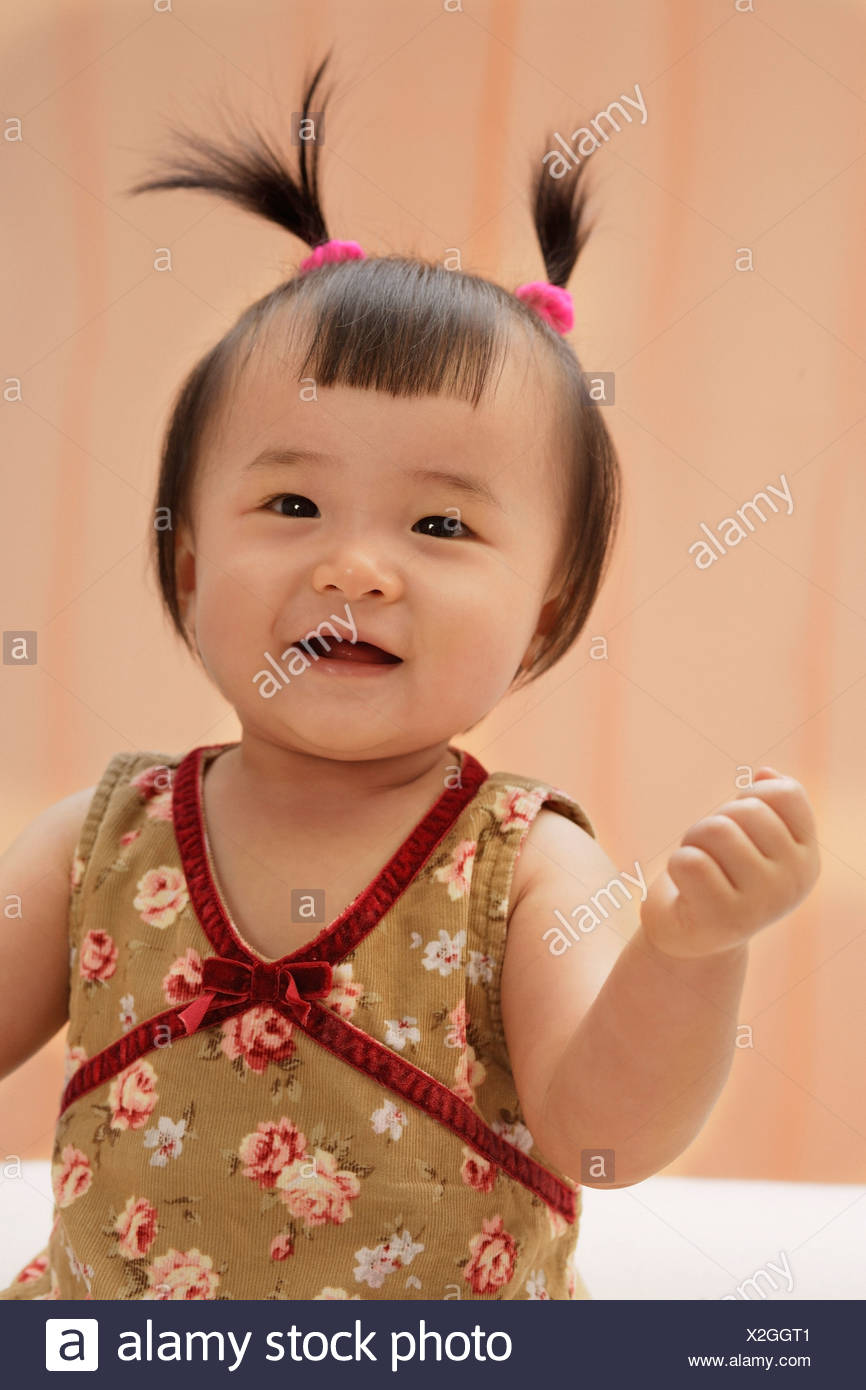 Wondrous Baby Girl Looking At Camera Smiling Stock Photo 276959649 Alamy Natural Hairstyles Runnerswayorg