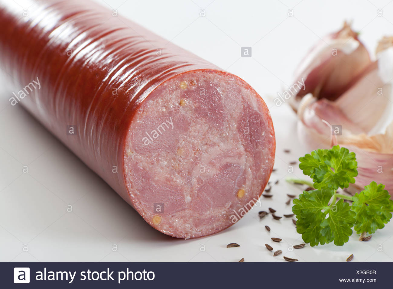 Riedlingen, Germany, beer sausage Stock Photo
