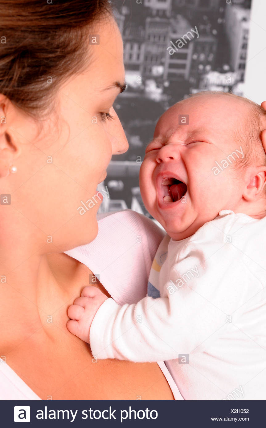 baby mother mom - Stock Image