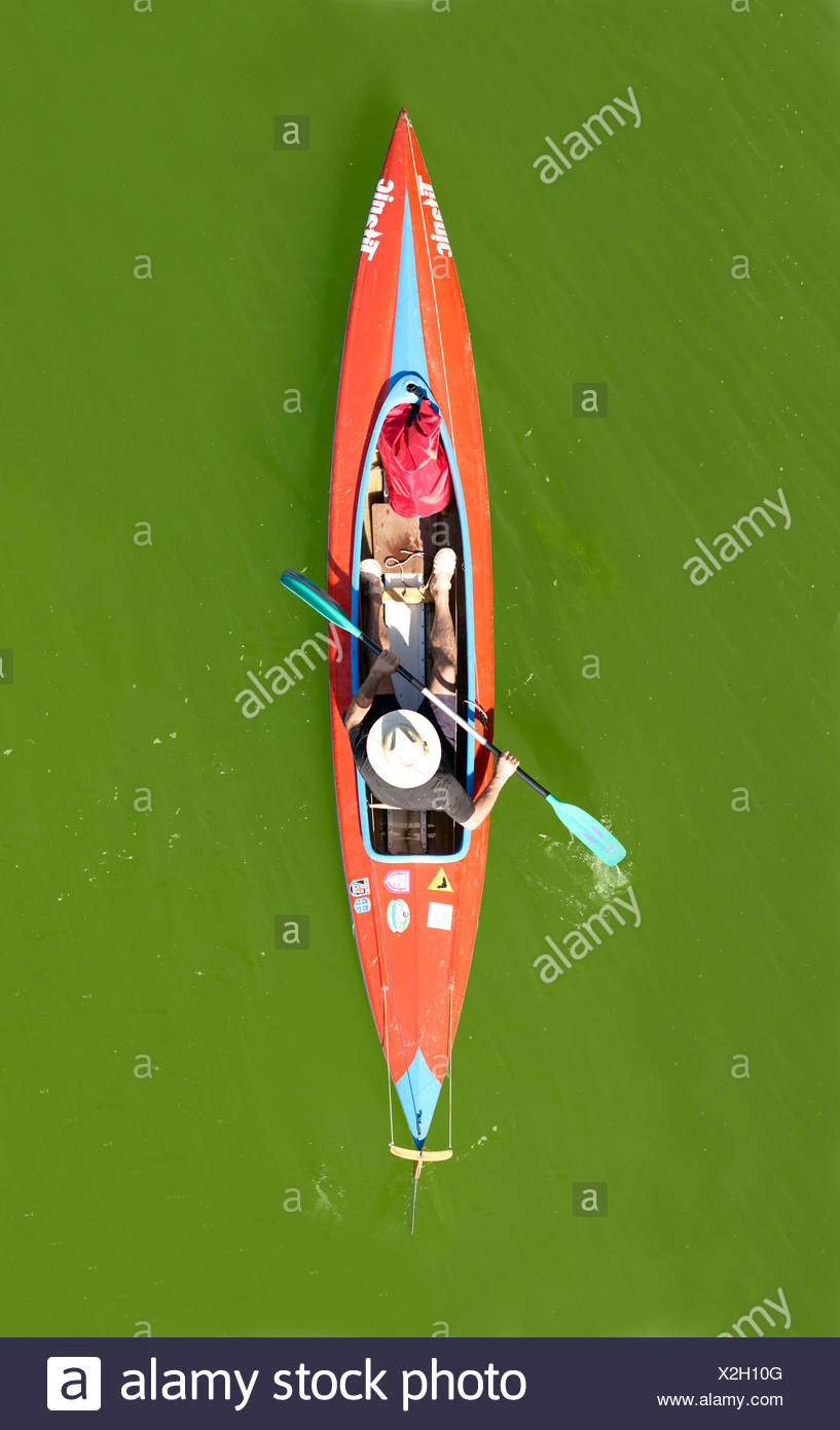 Kayak from above - Stock Image
