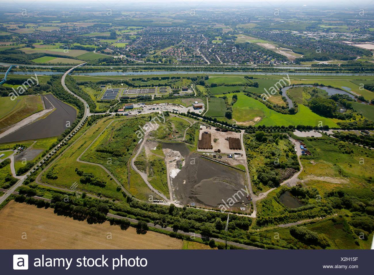 Aerial view, landfill, Hamm, Ruhr area, North Rhine-Westphalia, Germany, Europe - Stock Image