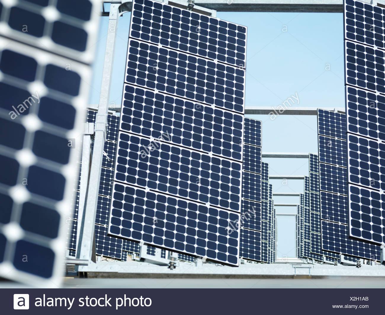 Solar power station front panels Stock Photo