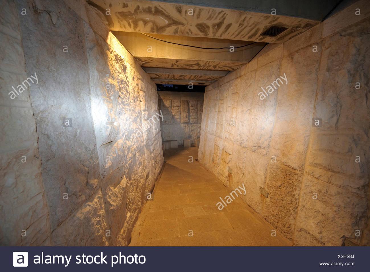 Memorial, Jew, Jewish, pogrom, persecution, Yad Vashem, Holocaust, Israel, Jerusalem, Middle East, Near East, inside - Stock Image