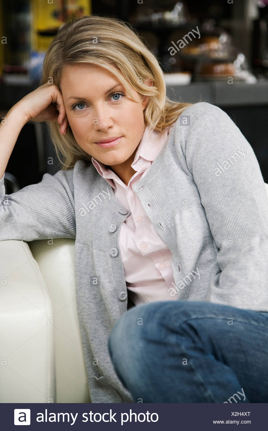 Portrait of a woman Sweden. - Stock Image