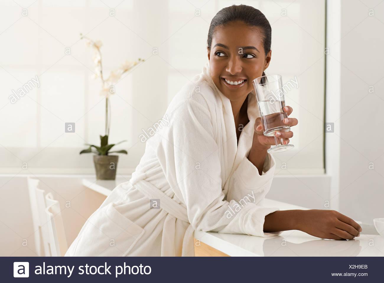 Woman at health spa - Stock Image