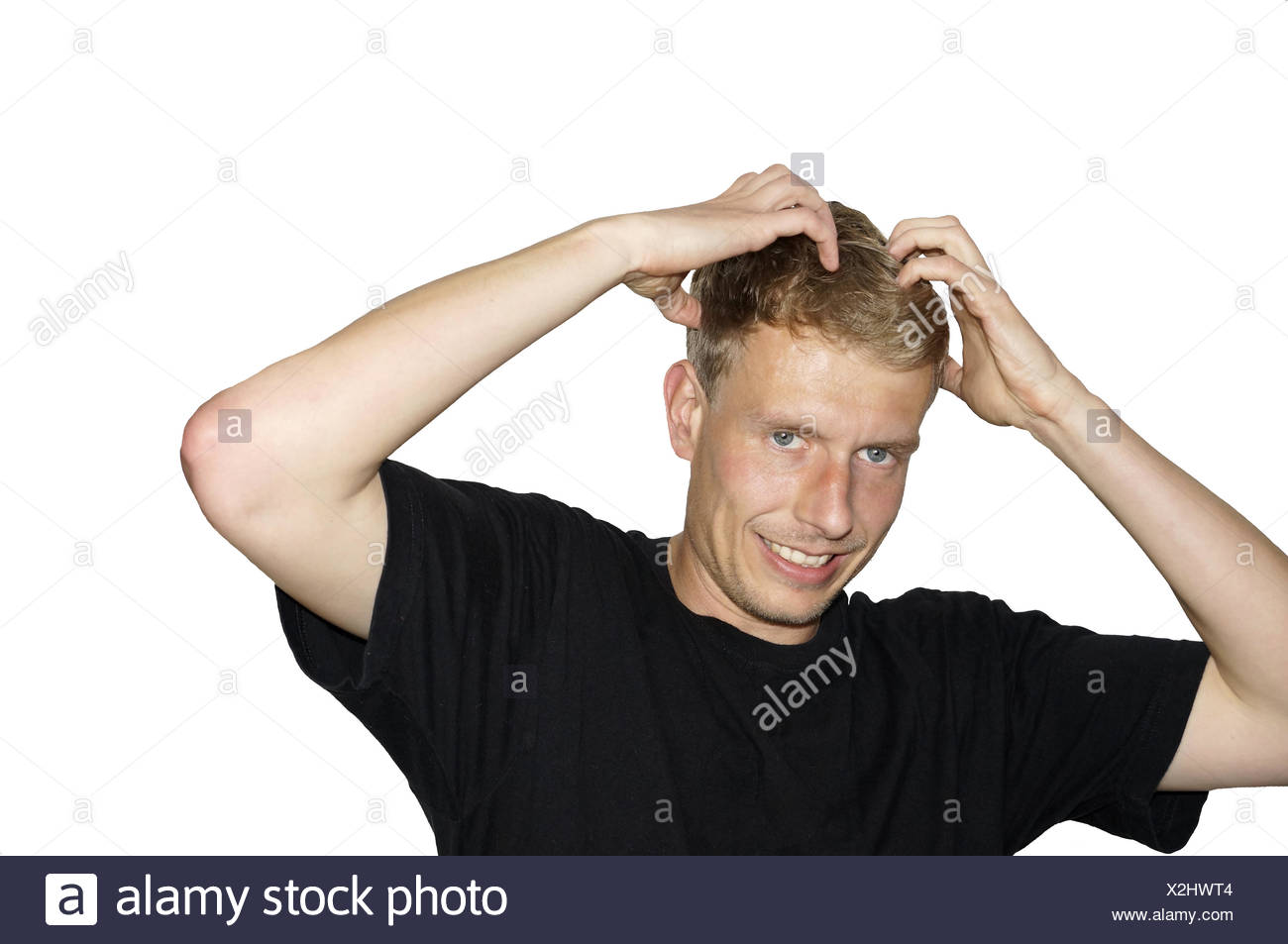 Lice? - To fight hair Stock Photo