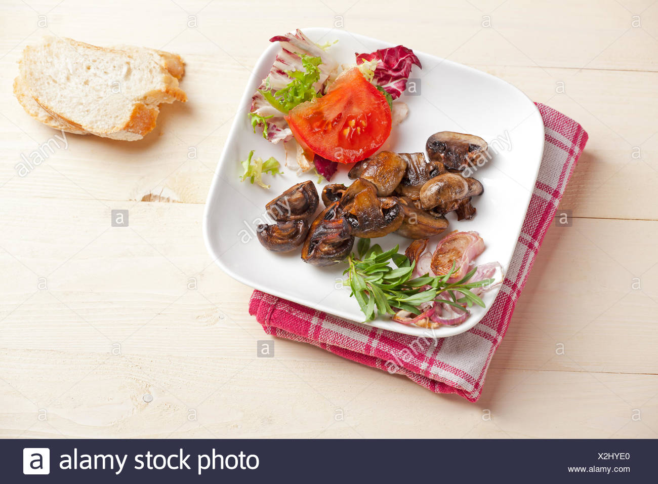 Try to cook a marinated champignon salad 52