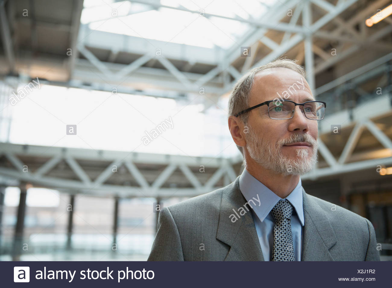 Pensive businessman - Stock Image