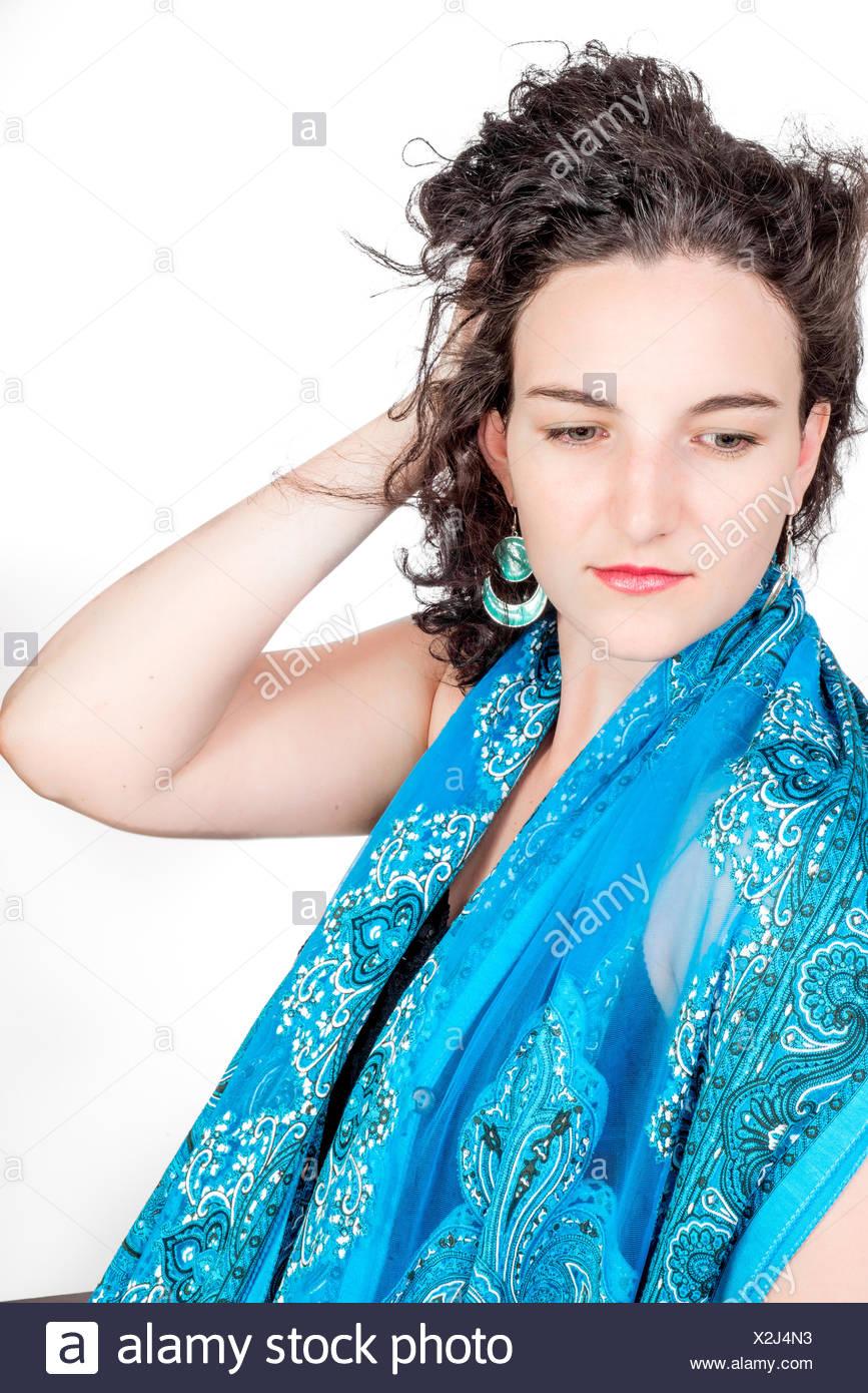 Young model in her mid twenties - Stock Image