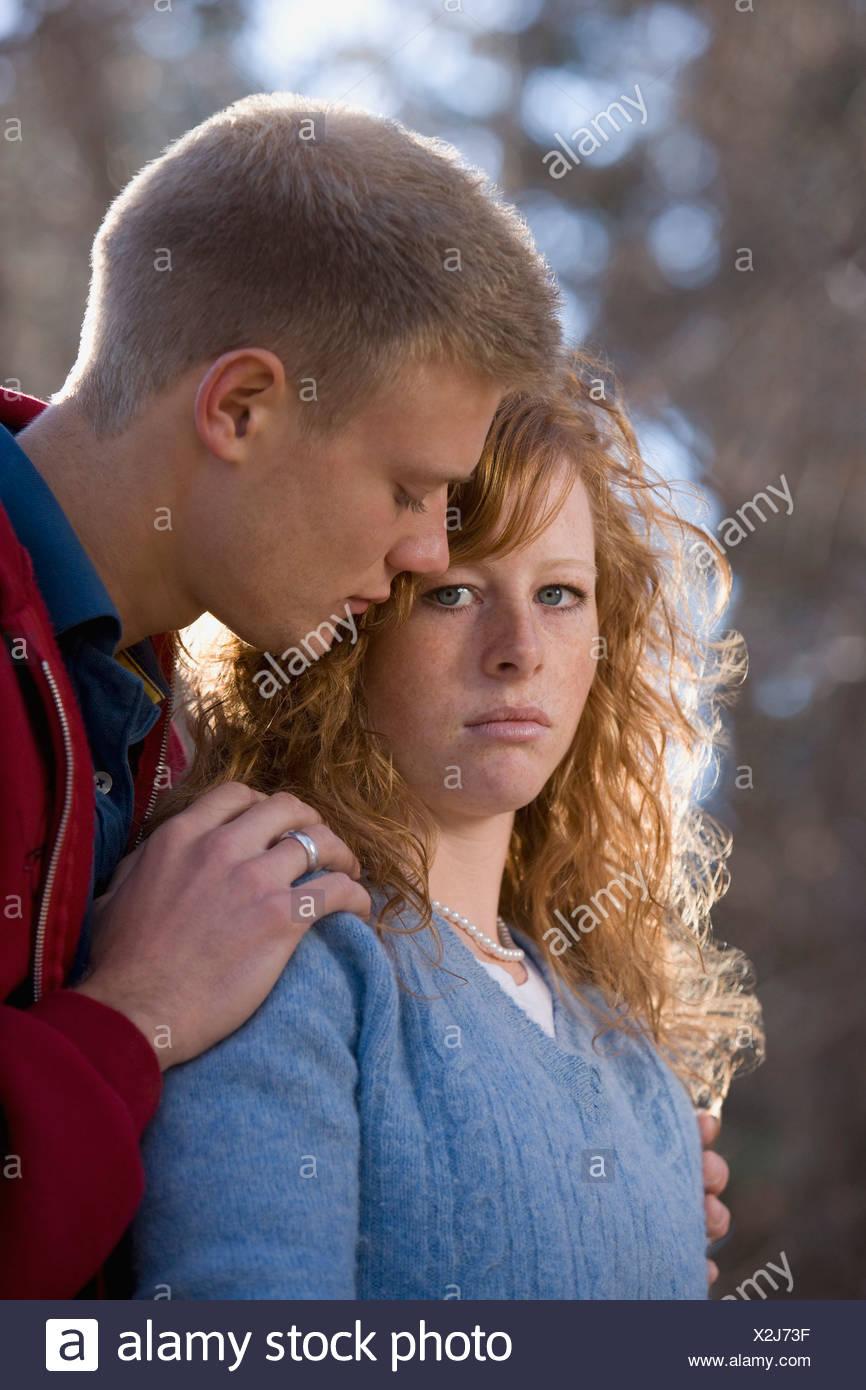Sullen couple - Stock Image