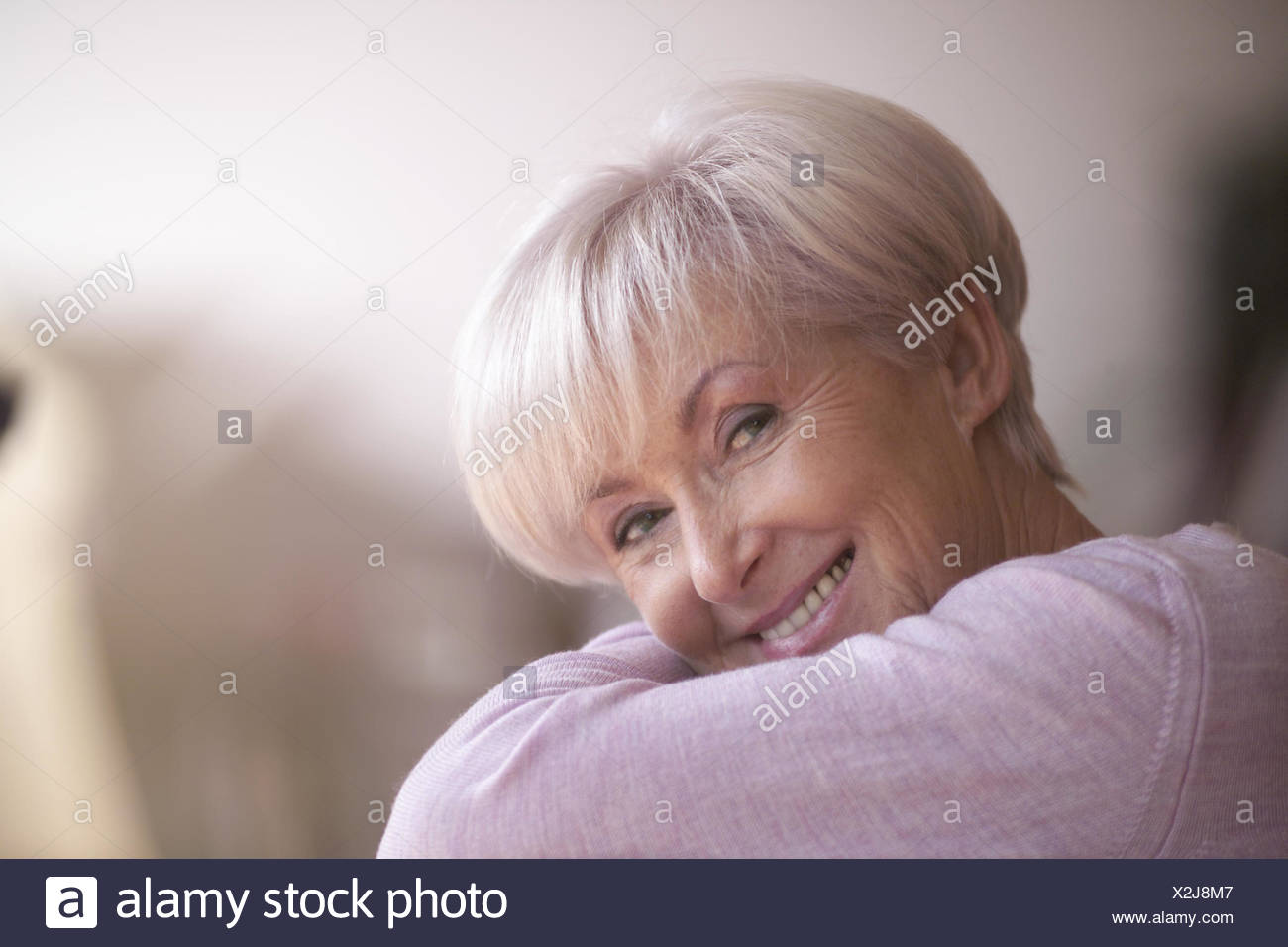 Senior Smile View Camera Portrait Woman Old Old Person Senior