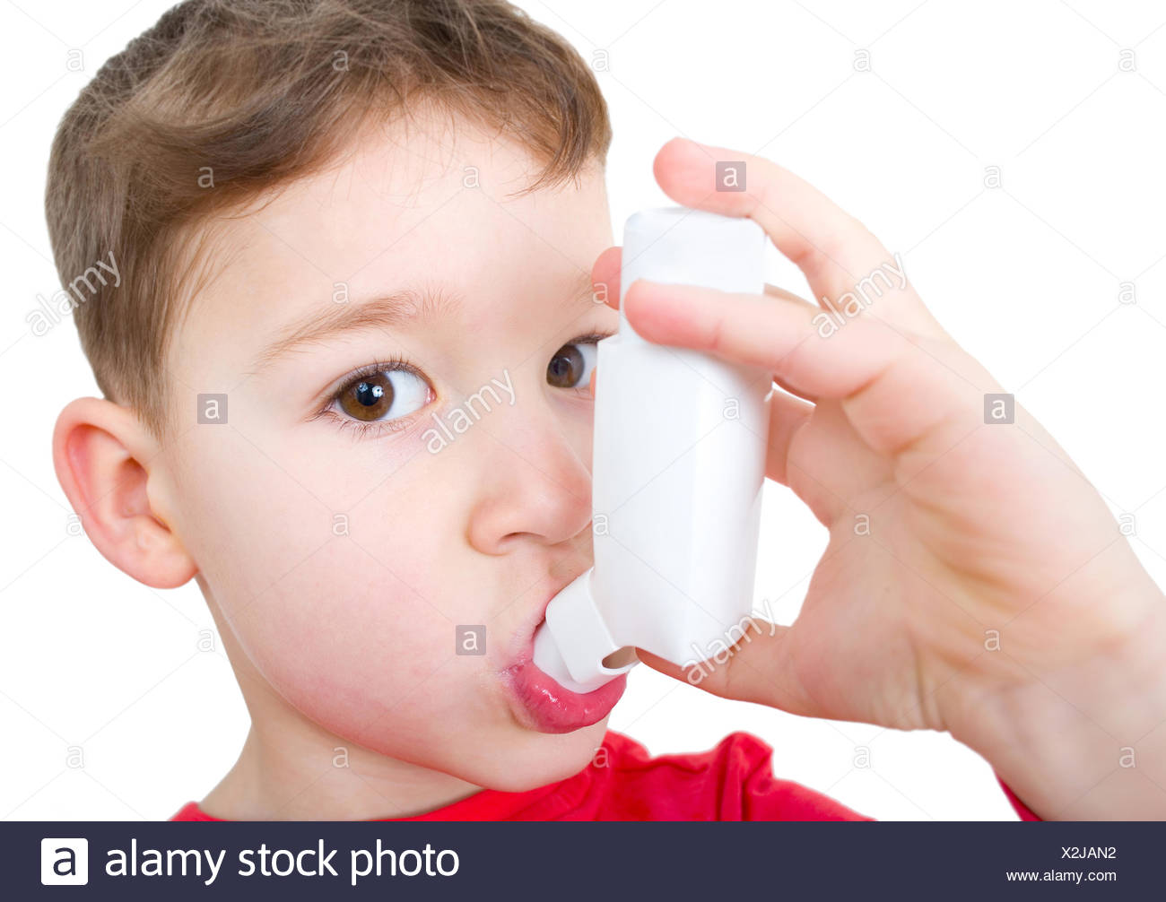 asthmatic - Stock Image