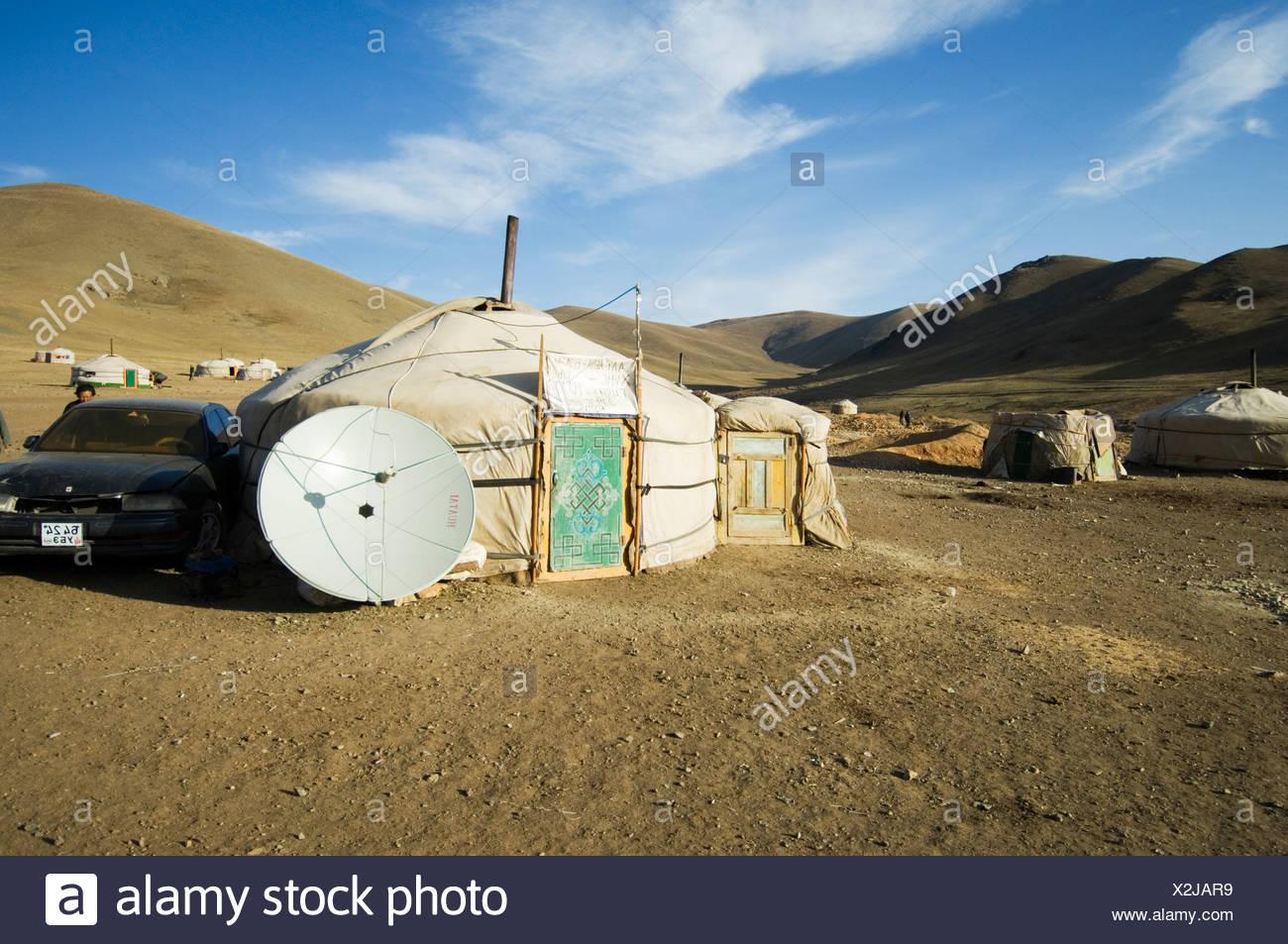Artisan gold mining, Mongolia - Stock Image