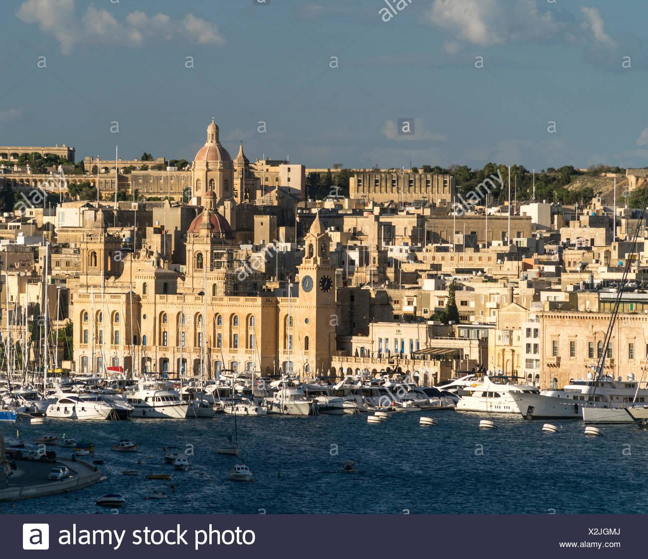 Blick auf Vittoriosa / Birgu, Valetta, Malta | Malta - Stock Image