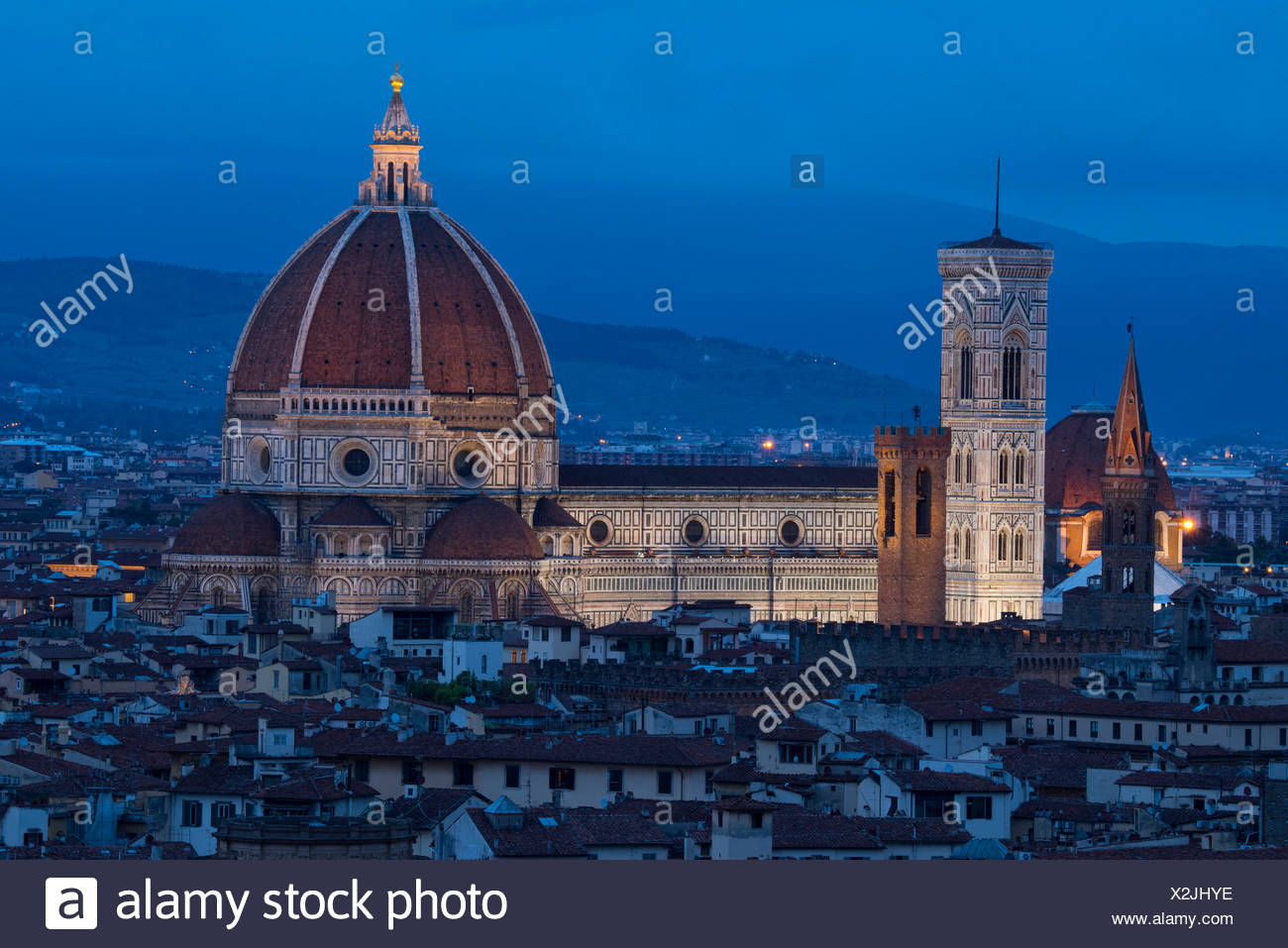 Europe, Italy, Tuscany, Toscana, Firence, Florence, Cathedral of Saint Mary of the Flower Cattedrale di Santa Maria del Fiore - Stock Image