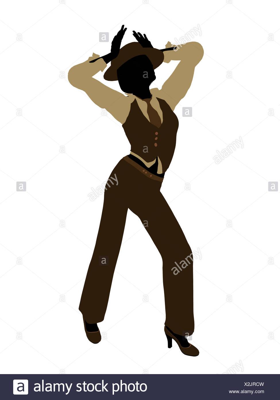 Female Jazz Dancer Silhouette Stock Photo Alamy