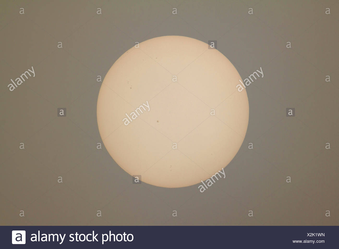 sun with sunspots, Germany, Bavaria - Stock Image