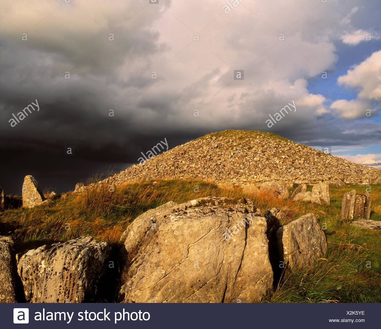 Loughcrew Cairns, Co Meath, Ireland, Prehistoric Passage Graves - Stock Image