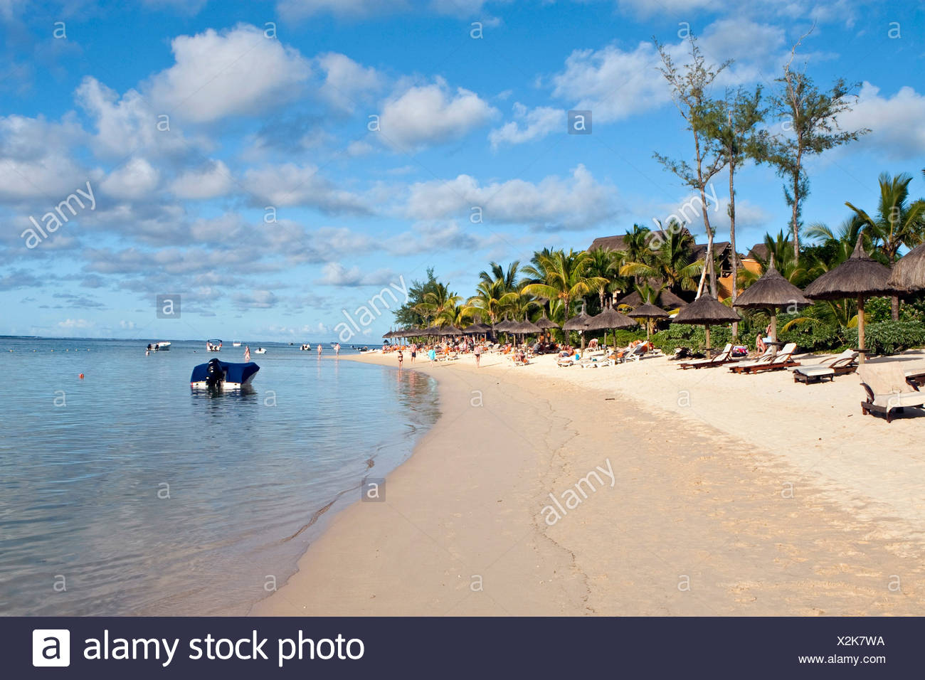 Beach near Bel Ombre, Mauritius - Stock Image