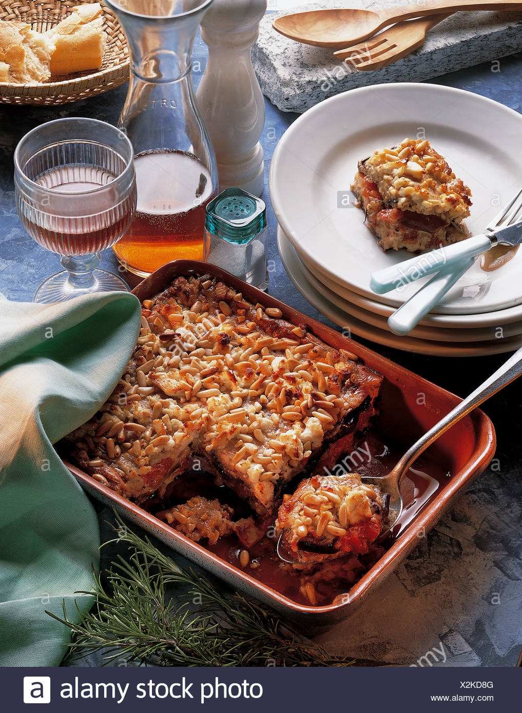 Eggplant casserole peloponnese with tomatoes under a crust of eggplant casserole peloponnese with tomatoes under a crust of almonds pine nuts and feta cheese whole food cuisine greece forumfinder Choice Image