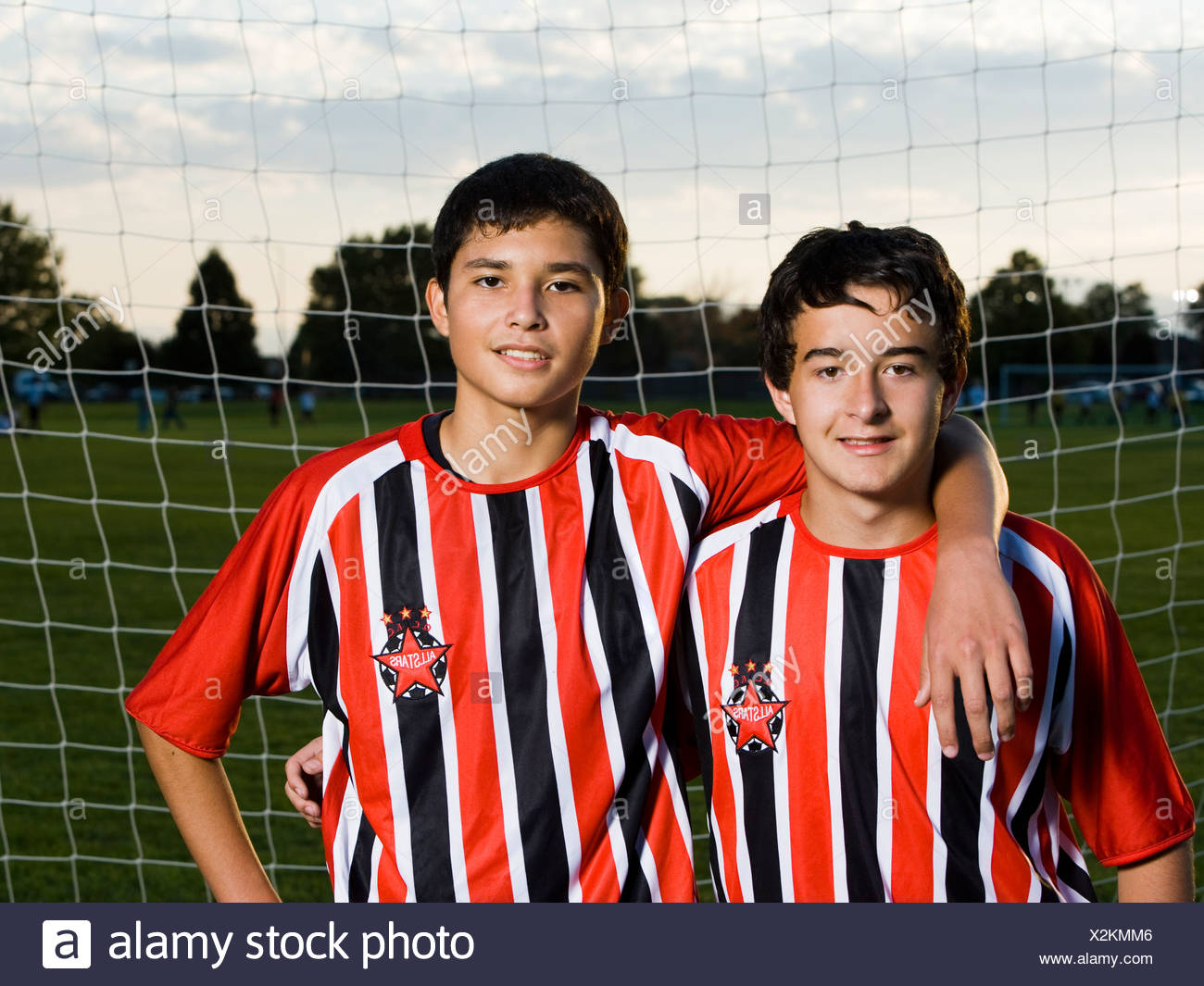 youth soccer players - Stock Image