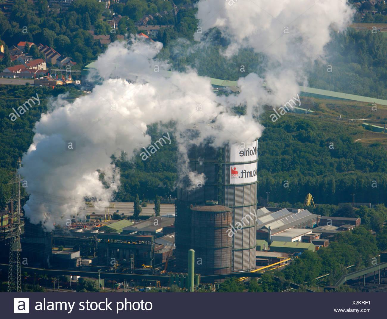 Aerial photo, Prosper Coke Plant, Bottrop, Essen, Ruhr Area, North Rhine-Westphalia, Germany, Europe - Stock Image