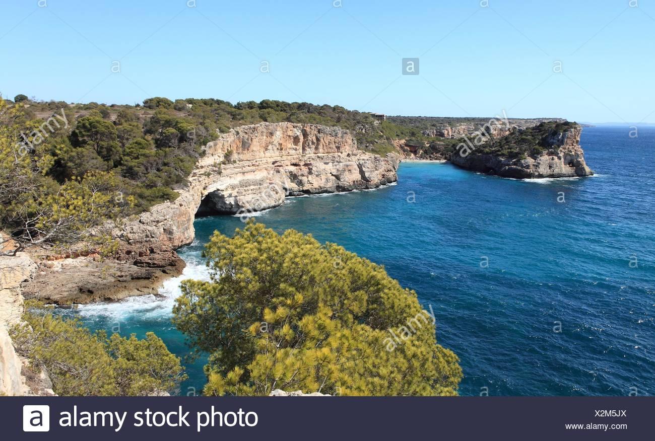 Cala Almonia, Islas Baleares, Mallorca. Stock Photo