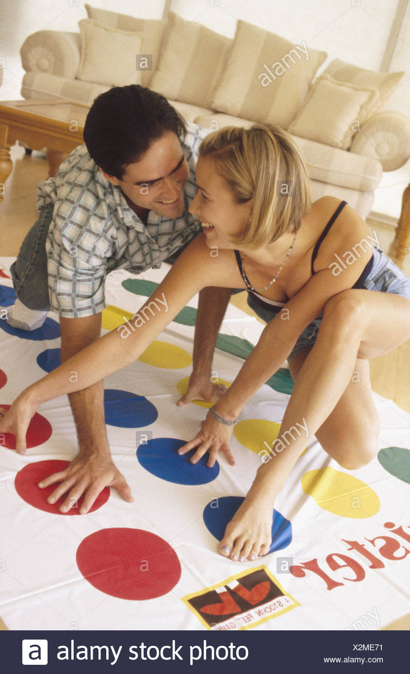 Playing Twister Game Stock Photos & Playing Twister Game