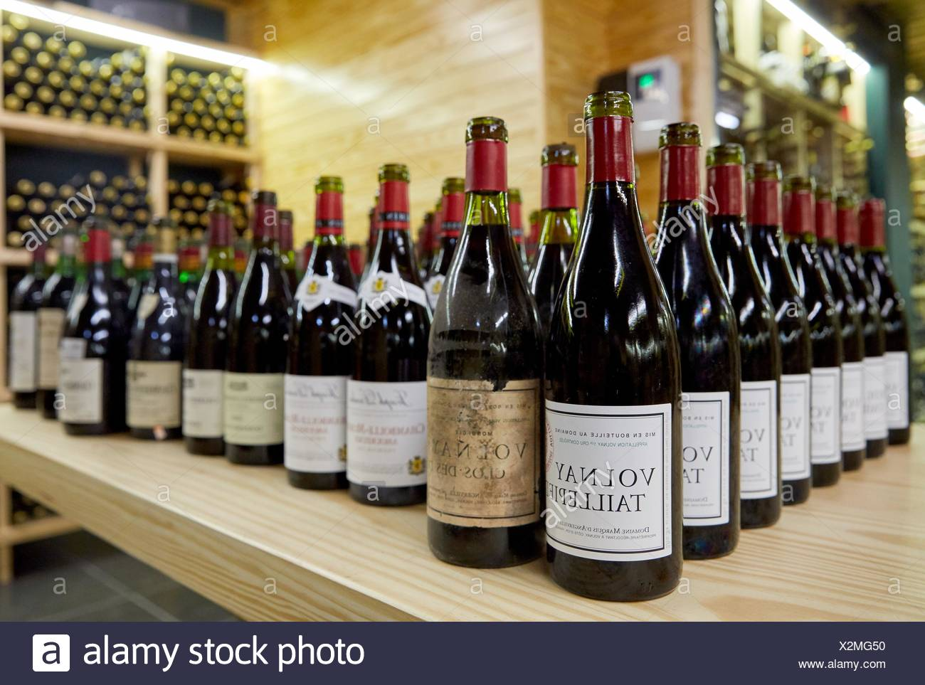 Wine selection, Cellar - Stock Image