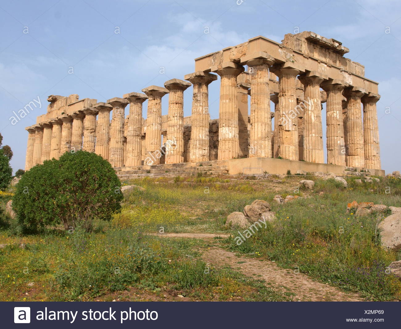 Temple of Hera at Selinunte, Sicily, Italy - Stock Image